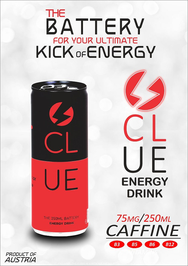 Clue Energy Drink - The Battery for the ultimate Kick Of Energy