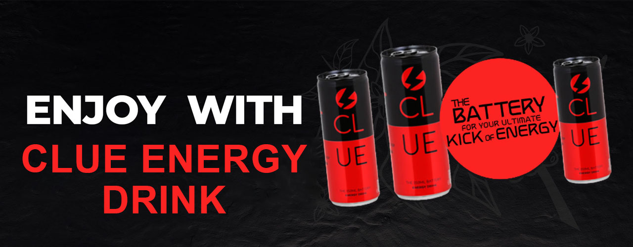 Enjoy with clue energy drink